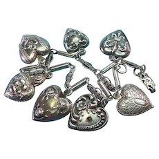 Virgo Fine Charms & Charm Bracelets Zodiac Vintage Silver Enamel Travel Charm