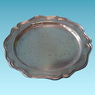 Vintage Miniature Dollhouse Metal Dinner Platter c1940