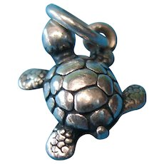 Vintage Sterling Silver James Avery Turtle Charm