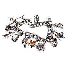 Sterling Silver Halloween Charm Bracelet