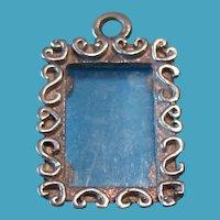 Vintage Sterling Silver Picture Frame Charm Pendant