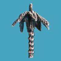 Vintage Sterling Silver Palm Tree Bracelet Charm