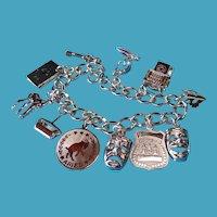 Vintage Sterling Silver Mixed Charm Bracelet #3