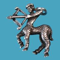 Vintage Sterling Centaur Greek Mythology Pendant Charm