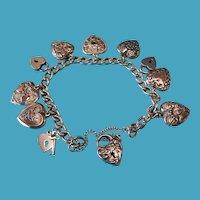 Vintage Sterling Walter Lampl Charm Bracelet