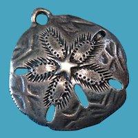 Vintage Sterling Silver Sand Dollar Charm Rare