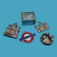 Vintage Sterling English Travel Assortment of Charms