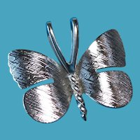 Vintage Sterling Silver DANECRAFT Butterfly Charm Pendant