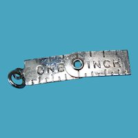 Vintage Sterling Silver Folding One Inch Ruler Charm