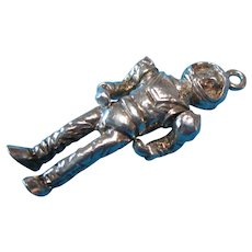 Vintage Sterling 1960s Articulated Rare Astronaut Charm