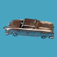 Vintage 1940s Sterling Mechanical Convertible Car Charm