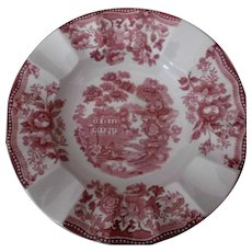 Clarice Cliff Royal Staffordshire Tonquin Fluted Bowl Pink Transfer