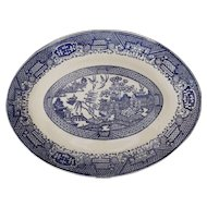 Blue Willow Transfer Ware Platter U.S.A. Vintage Kitchen Decor