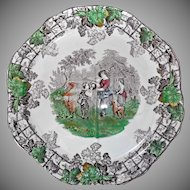 Copeland Spode's Byron Plate Brown Transferware