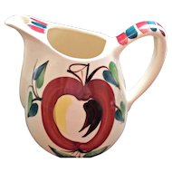 Purinton Pottery Apple Pitcher Circa 1940's Red Yellow Brown Green