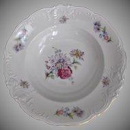 Vintage Poland China  Soup Bowls Rosecrest Pattern Roses Mums - 4