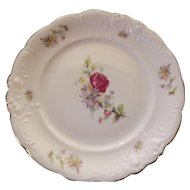 Vintage Polish China Bread Desert Plates Rosecrest Pattern Rose Mums - 4