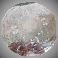 Gorham Vintage Silver Electroplate Pierced Trivet Hot Plate Plateau Footed