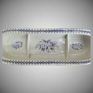 Vintage Blue White Transfer Razor Box Bottom No Lid Vanity