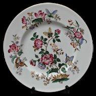 Wedgwood Charnwood Dinner Plate Vintage Flowers Butterflies