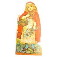 Vintage Cardstock Story Poem Booklet Little Flower Girl 1976 Ephemera Die Cut