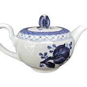 Royal Copenhagen Tranquebar Blue Rose Mini Tea Pot For One Vintage Porcelain