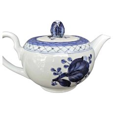 Royal Copenhagen Tranquebar Blue Rose Mini Tea Pot For One Vintage Porcelain