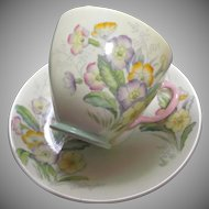 Old Royal Bone China Cup Saucer Set Flowers