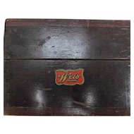 Vintage Weis Dovetailed Wood Recipe Card Box U.S.A