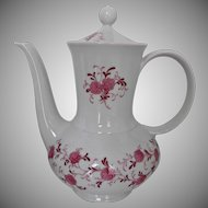 Vintage Porcelain Coffee Pot Annabell Pink Floral Christian Seltmann