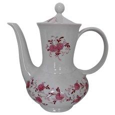 Vintage Porcelain Coffee Pot Annabell Pink Floral Christian Seltmann