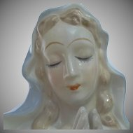 Ceramic Praying Mary Madonna Planter Vintage Lego Japan