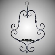 Vintage Hand Forged Wrought Iron Hanger Farmhouse Country Kitchen Decor