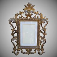 Ornate Rococo Style Gold Gilt Cast Iron Vintage Picture Frame
