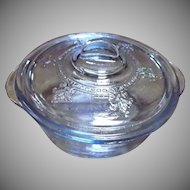 Fire King Sapphire Blue Individual Casserole with Lid