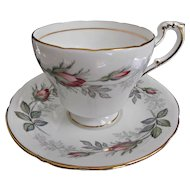 Paragon Bridal Rose Set of Four Cup Saucer Desert Plate Trio Vintage China