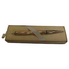 Vintage Cross 10K Gold Filled Pencil Pendant Original Box Unused