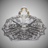 Cambridge Glass Diane Center Handled Tray Elegant