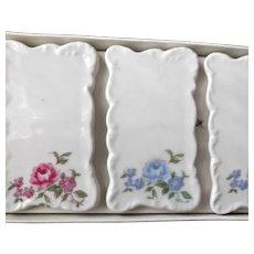 Shafford Japan Vintage Ceramic Place Settings Card Holders Six Floral