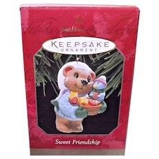 Hallmark Keepsake Ornament Sweet Friendship Bear and Bird