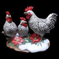 Andrea Sadek Three French Hens Vintage 1991 Figurine
