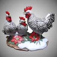 Andrea Sadek Three French Hens Vintage 1991 Figurine