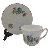 Staffordshire House of Goebel Cup and Saucer Vintage Floral China