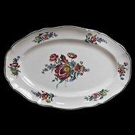 Villeroy and Bach Mettlach Alt Strassburg Vintage Oval Platter Floral