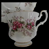 Royal Albert Lavender Rose Cup Saucer Vintage Bone China