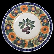Royal Copenhagen Denmark Aluminia Faience Fruit Wall Plate Purple Grapes
