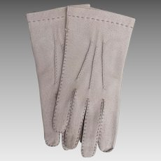 Vintage Aris Pigskin Gloves Tan made in Hungary Never Worn