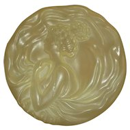 Vintage Art Nouveau Style Plastic Dusting Powder Box