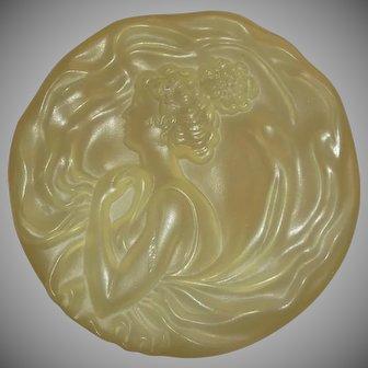 Vintage Art Nouveau Style Plastic Dusting Powder Box