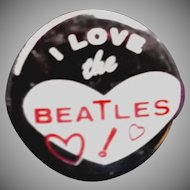 Vintage 1964 I Love the Beatles Small Metal Pin